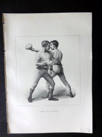 Badminton Library 1889 Boxing Print. Slipping